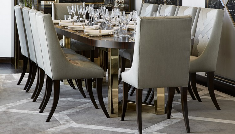 Interior Design Styles - luxury dining table set for 8 with grey dining chairs home inspiration ideas