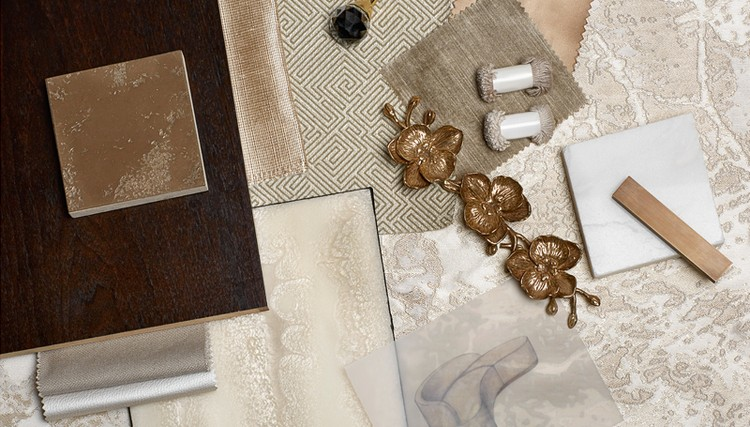 Fabrics and metals samples of furniture pieces home inspiration ideas
