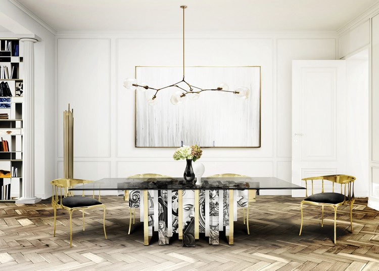 Luxury dining room decor by Boca do Lobo home inspiration ideas