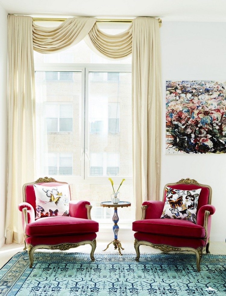 Soho apartment red chairs home inspiration ideas