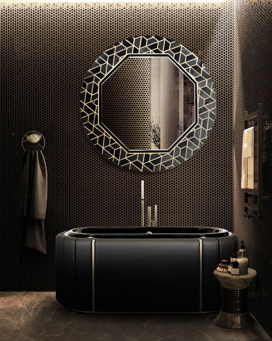 Dark Bathrooms Setting the Background for Relaxation home inspiration ideas