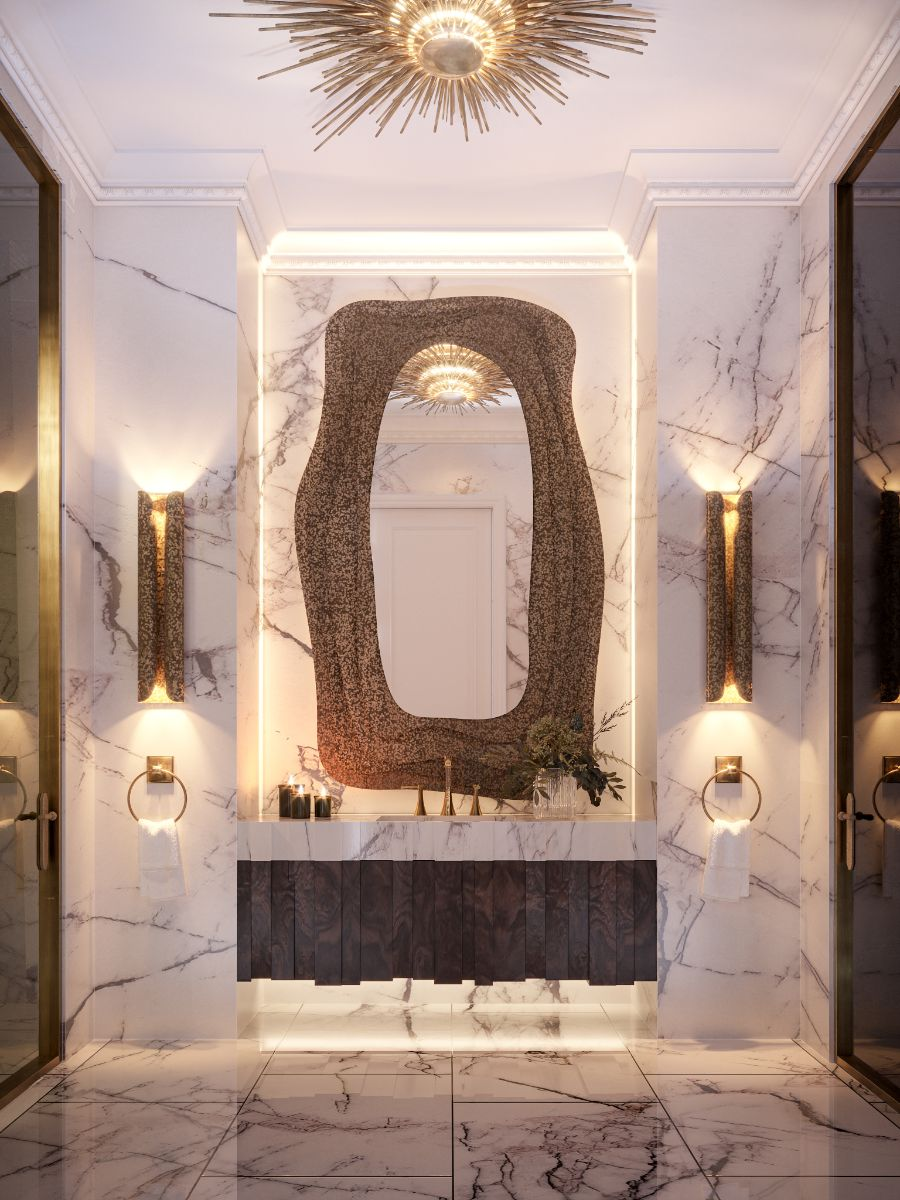 Diversity Powder Room-Home Design Inspiration Straight From Paris home inspiration ideas