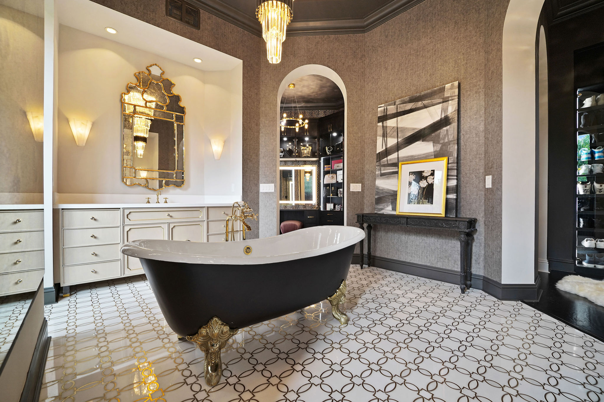 NFL Star Home Design by Hilary White:Romantic Vibe and Eclectic Accent home inspiration ideas